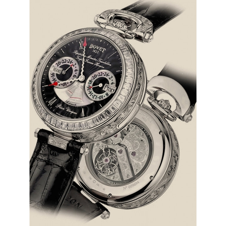 "Bovet Amadeo Fleurier Complications Minute Repeater Tourbillon Triple Time Zone Automaton ""Новые"""