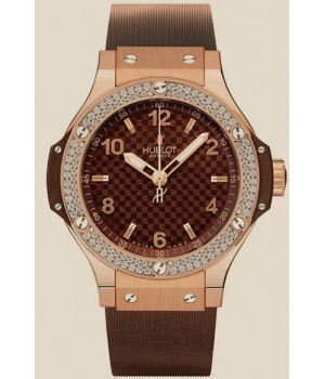 Hublot Big Bang 38 MM Red Gold Cappuccino Diamonds