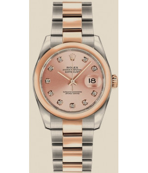 Rolex Datejust 36mm Stainless Steel and Rose Gold Ladies Watch